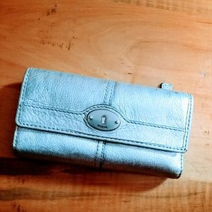 Silver Fossil Wallet